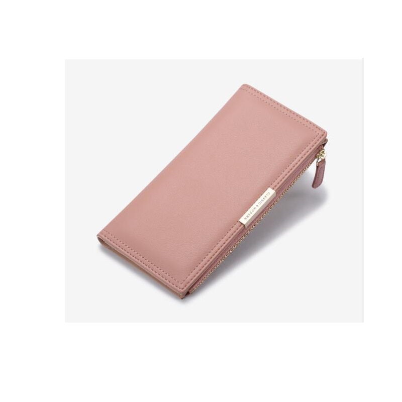 85 Womens High Quality Leather Clutch  leather Coin Purse Long Clamshell Wallet female Caviar Card B