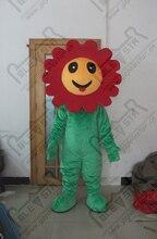 quality red flower mascot  costumes cartoon sunflowers mascot design