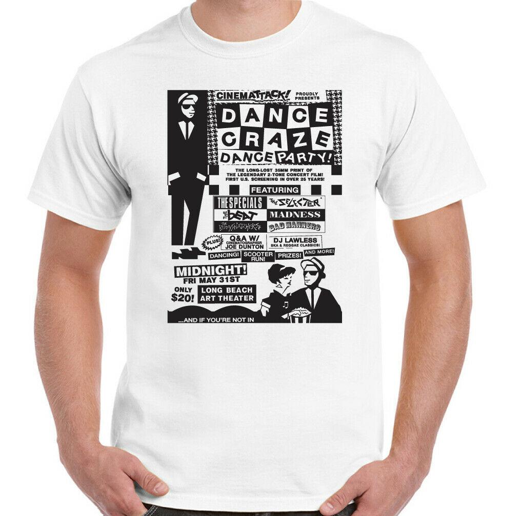 2 Ton Ska camiseta hombres especiales Danse Engouement Folie 2 tono seleccionador de Haut