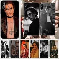 maneskin damiano david phone case for black iphone 5 5s se 6 6s 7 8 11 12 x xs xr pro plus max mini cover