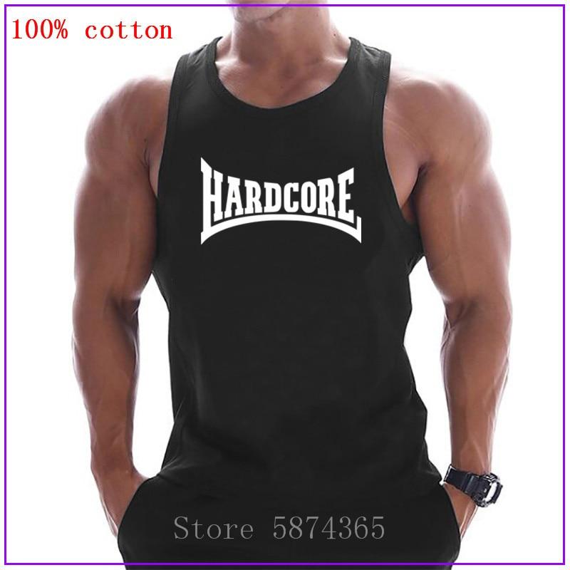 Ropa de marca Hardcore, culturismo, Fitness para hombres, camiseta sin mangas, ropa deportiva de Stringer sin mangas