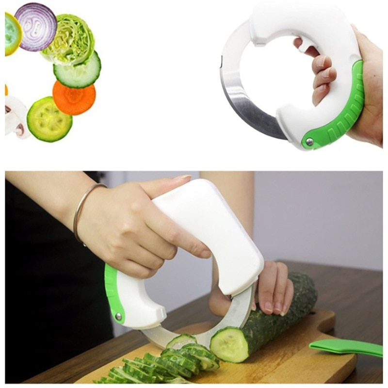 Multifunctional Stainless Steel Round Shaped Rolling Circular Kitchen Knife Pizza Meat Cake Vegetable Cutter Tool