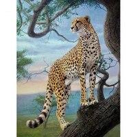 Peinture diamant theme leopard Cool  broderie complete 5D  perles carrees ou rondes  mosaique danimaux bricolage decoration dinterieur  cadeau artisanal  XN1345