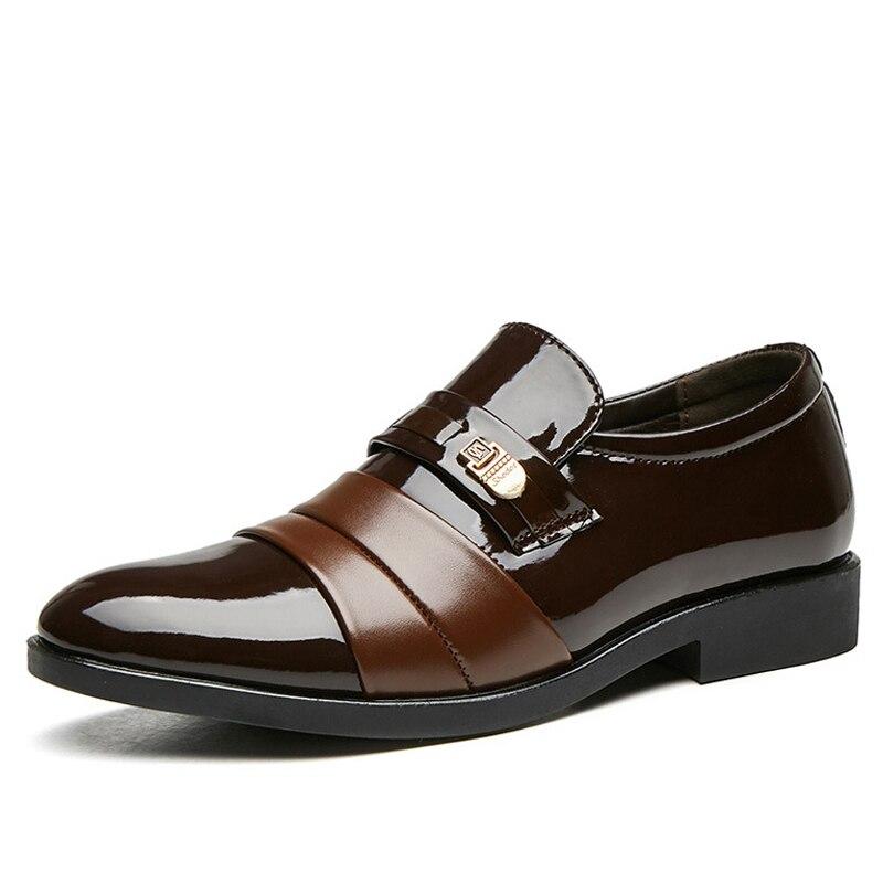 2020 أحذية رسمية أشار تو فستان حذاء رجالي جلد أكسفورد أحذية للرجال أحذية الزفاف الانزلاق على مكتب أحذية حجم كبير 47 48