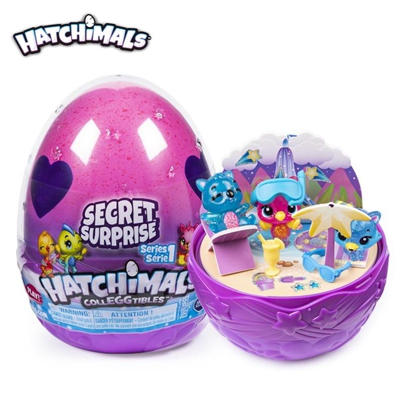Genuino S6 Hatchimals Colleggtibles serie 1, caja de huevos para eclosión sorpresa secreta, huevos mágicos divertidos, juguete para regalo creativo para niños