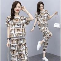 new fashion women suit sportswear suit womens summer 2021 fashionable slim loose size leisure two piece summer suit