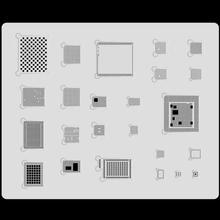 MJ 3D Steel BGA Stencil Kit For iphone XS MAX XR 11 pro max CPU/RAM/power/WiFi/U2 IC Solder Template A10 A11 A12 A13 Reballing