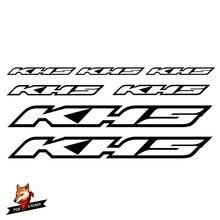 Fahrrad Rahmen Aufkleber Rennrad Mountainbike MTB Track Bike TT Bike Zyklus Aufkleber Reflektierende Aufkleber für KHS Aufkleber
