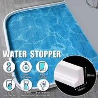 Barriere de separation deau pour salle de bain  en silicone  forme Flexible  separateur sec et humide  150 200cm