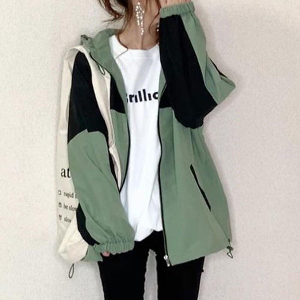 Primavera casual feminino jaqueta topos 2020 coreano janpan zíper manga longa outwear outwear outwear outwear outwear outwear outwear