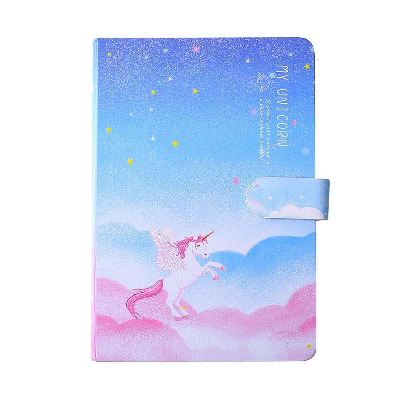 32k licorne magnétique boucle bloc-notes style japonais fille créatif mignon coloriage page illustration dessiné à la main rétro personnalité