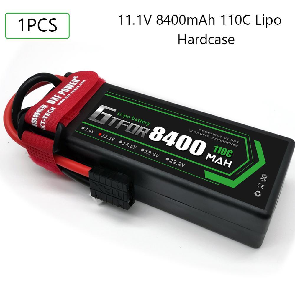 GTFDR 8400mAh 11.1V 110C 3S RC Lipo Battery Deans/T XT60 XT90  EC5 trxx XT150 Plug for 1/8 1/10 RC Car Model Emaxx Slash Buggy enlarge