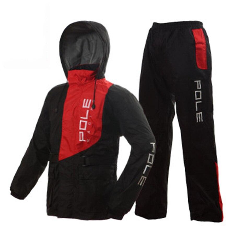 Impermeable para motocicleta al aire libre con pantalones Impermeable para acampar para mujer con capucha Abrigos Hombre Impermeable LZG165