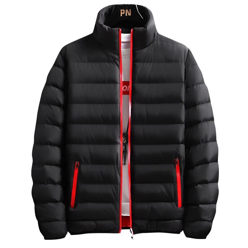Новинка 2021, зимние куртки, парка, мужская осенне-зимняя Толстая теплая верхняя одежда, брендовые облегающие мужские пальто, Повседневная ве...