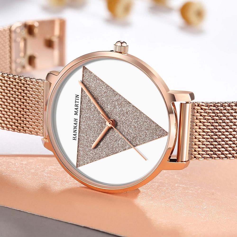 Original Design Women Watches Fashion Japan Quartz Movement Stainless Steel Rose Gold Waterproof Wrist watches relogio feminino enlarge