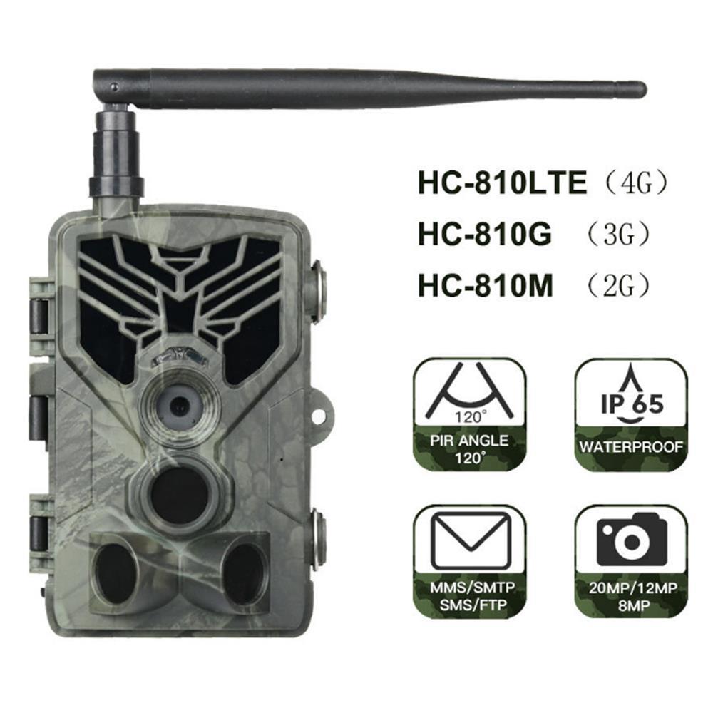 HC-810 3 جرام 2 جرام الصيد كاميرا تعقب 20MP 1080P SMS/MMS/SMTP صور فخ للصيد 0.3s الزناد الغابات كاميرا