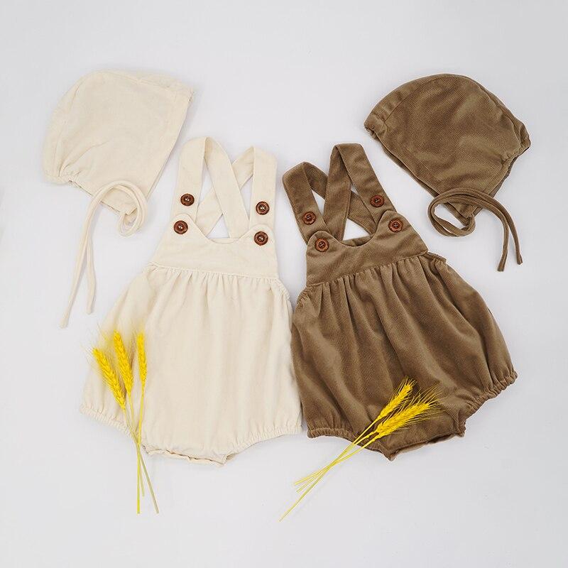 Ropa De otoño e Invierno para niña pequeña, mono con sombrero, atrezos...