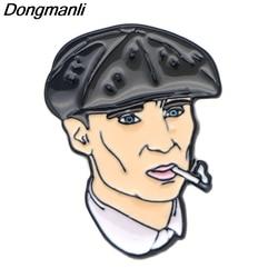 P2272 dongmanli tv série peaky blinders metal esmalte broche mochila pino para distintivo