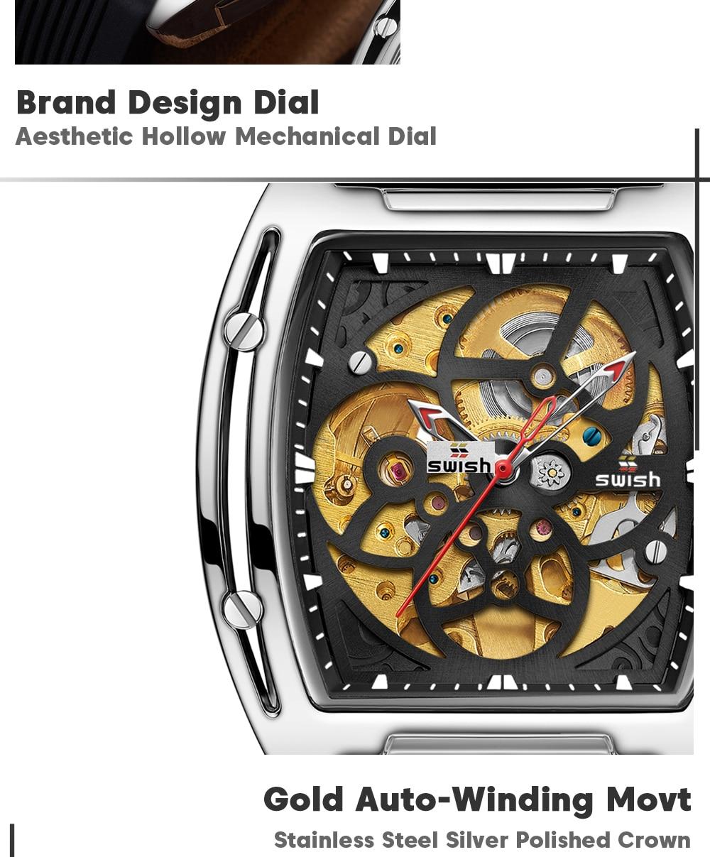 Hf480576a26b8440cb6ee4c07ce22f50bD SWISH Brand Design Luxury Men's Mechanical Wristwatch
