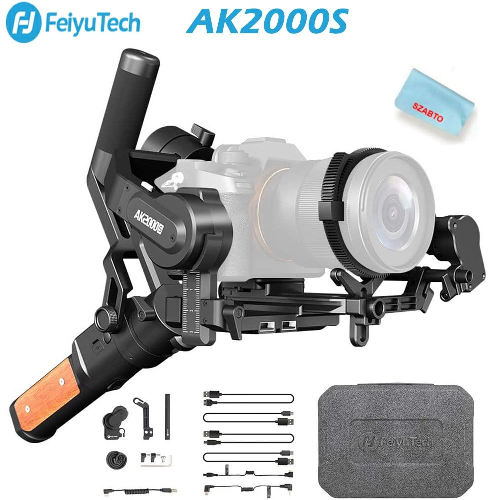 FeiyuTech AK2000S 3-Axis مثبت أفقي كاميرات عالية الدقة بدون فرشاة