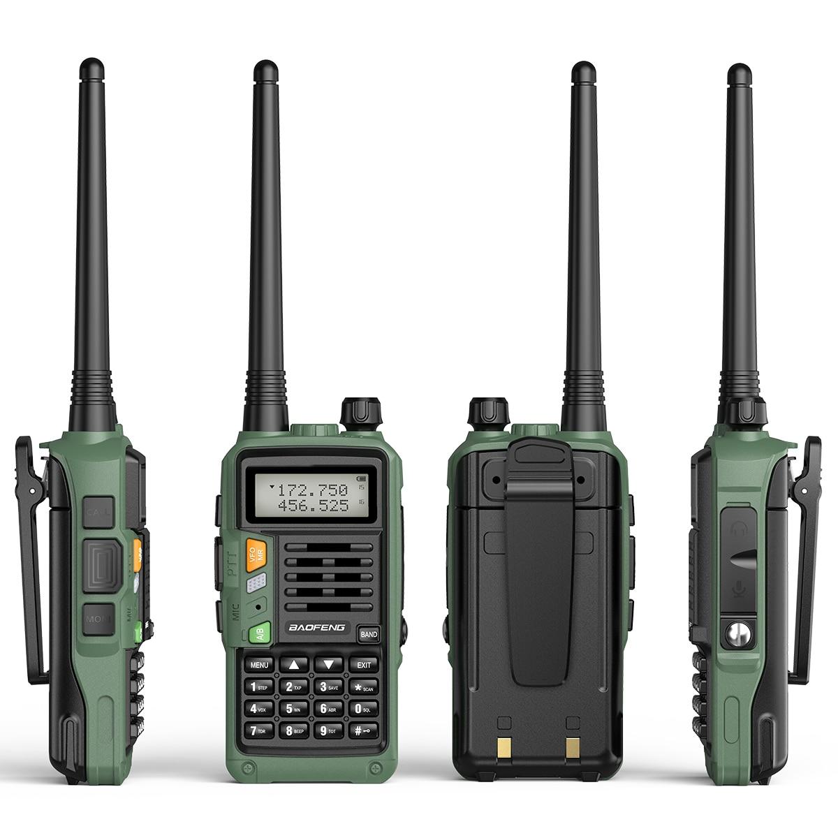 Green BAOFENG UV-S9 Plus 10W Powerful 50KM Handheld Transceiver with UHF VHF Dual Band Walkie Talkie Ham UV-5R Two Way Radio enlarge