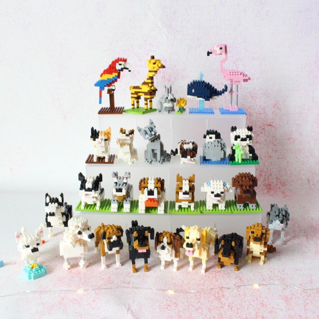 Wisehawk алмазные мини строительные блоки игрушка в виде животных сумка строительные блоки A1-B26 Собака Кошка Птица Животные серии для детей Подарки