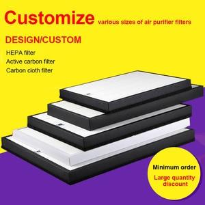Custom filter Air purifier filter Replacement HEPA filter+Activated carbon filter+Carbon cloth filter set