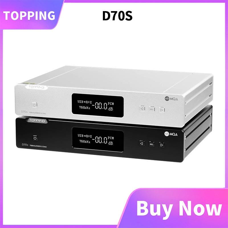 TOPPING D70s MQA فك 2 * AK4497 بلوتوث 5.0 32Bit/768K DSD512 مرحبا الدقة DAC مع جهاز التحكم عن بعد