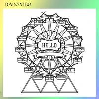 daboxibo ferris wheel transparent clear stamps for diy scrapbookingcard makingphoto album silicone decorative crafts 13x13