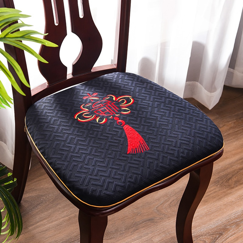 جديد التطريز الصينية عقدة U شكل وسادة للمقعد المطبخ الطعام مخدة كرسي ديكور المنزل استبدال المضادة للانزلاق الجلوس الحصير