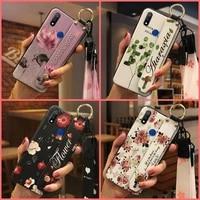 for girls phone holder phone case for oppo realme 3 anti knock back cover kickstand original soft