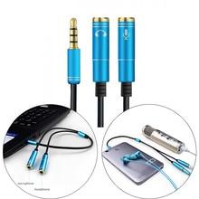 Cable de micrófono auxiliar de 3,5mm para auriculares portátiles 1 macho 2 Cable Famle extensión combinada Adaptador de Audio móvil un divisor de dos puntos