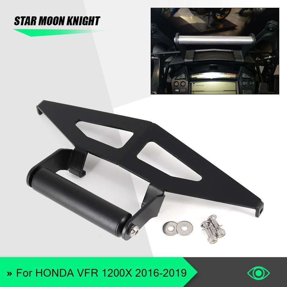 For Honda VFR1200X Crosstourer VFR 1200 X 2016 - 2020 windshield Stand Holder Phone Mobile Phone GPS Navigation Plate Bracket