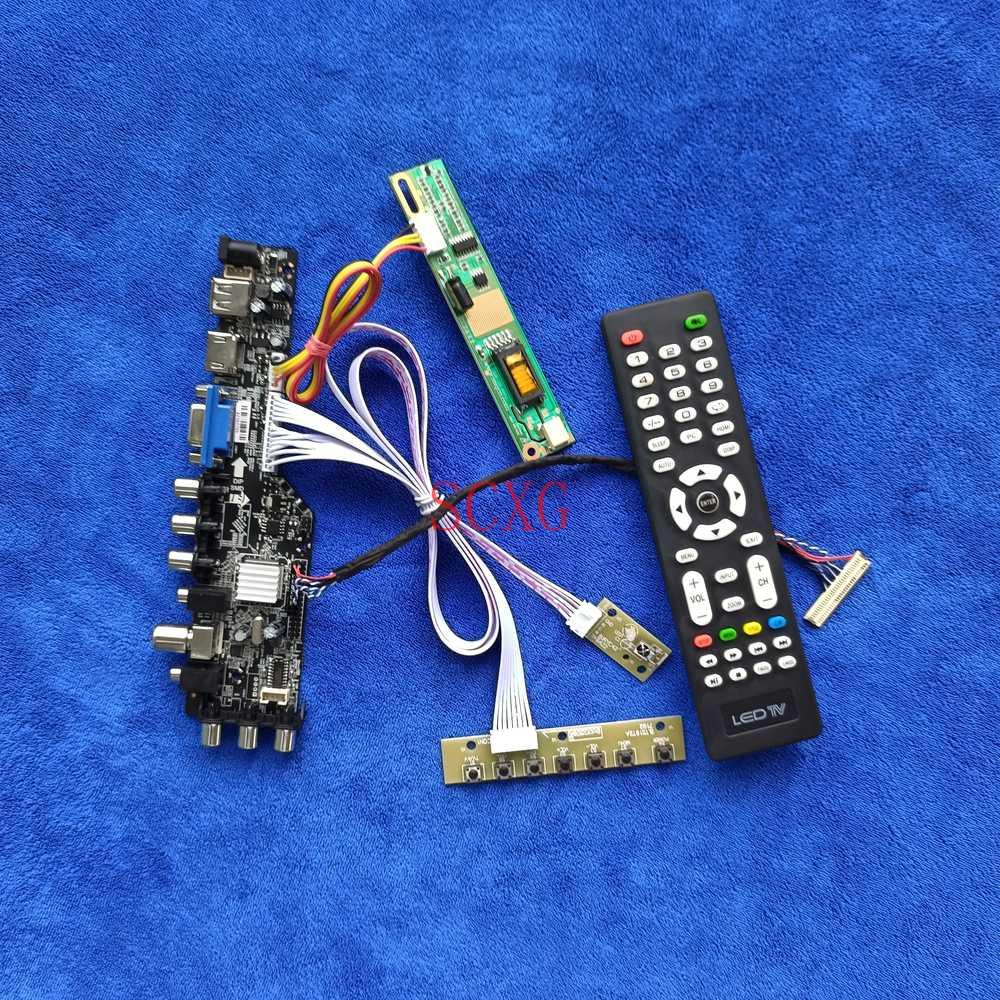 1CCFL إشارة DVB ل N154I1/N154I2/N154I3/N154I5 AV VGA USB HDMI-متوافق لتقوم بها بنفسك عدة 1280*800 شاشات كريستال بلورية محرك مجلس 30 دبوس LVDS