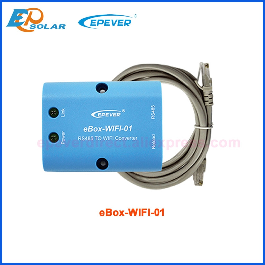 EPEVER MT50 meter Bluetooth und WIFI funktion box für EP Tracer batterie laderegler RS485-USB Temp Sensor elog01