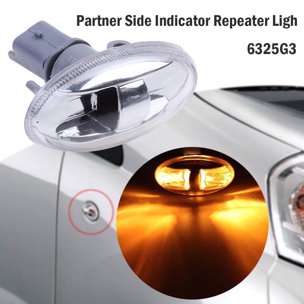 Bombilla de luz de repetición con indicador lateral para Peugeot 108, 107, 407, 206, 1007, 6325G3, para Citreon C1, C2, C3, Picasso, # YL1