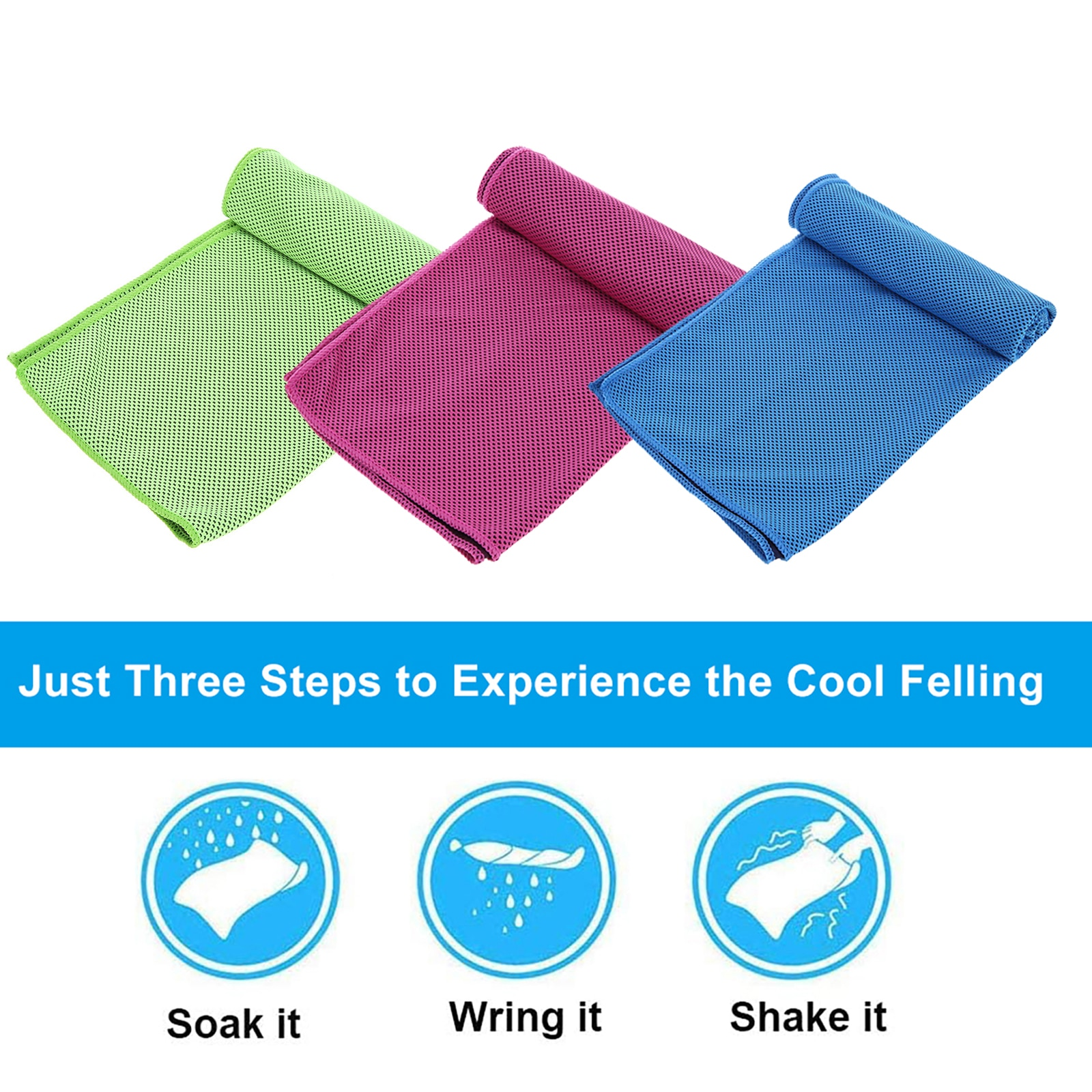 3pcs Cooling Towel Summer Instant Ice Cold Feeling Towel for Outdoor Sports Gym Swimming Yoga Running Quick-dry Sweat Towels multicolor sports face towel cooling ice utility enduring instant cozy ice cold for enduring running jogging gym