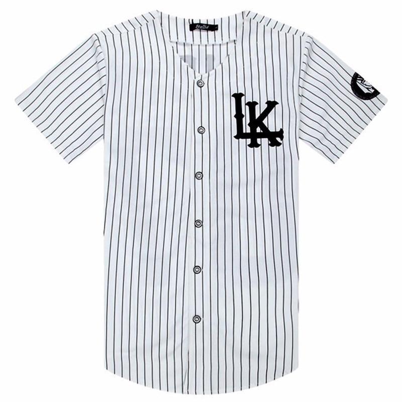 LK Baseball Shirt KINGIN 07 Fashion Hip Hop Short Sleeve Cosplay Baseball Uniform Loose Casual Tops