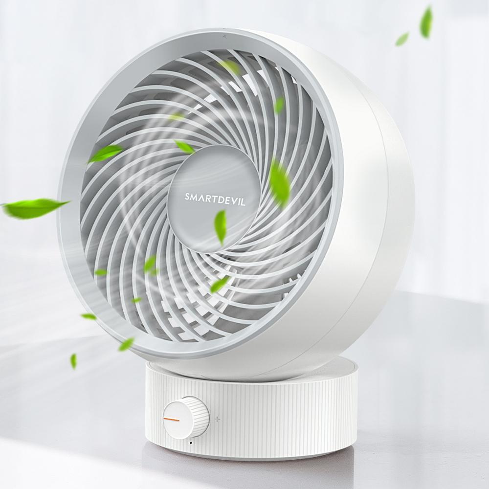 SMARTDEVIL USB Desk Fan Small Personal Desktop Table Fan with Strong Wind Quiet Operation Portable Mini Fan for Office Bedroom