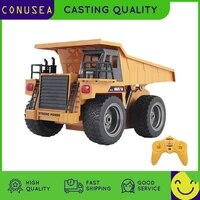 huina 118 rc truck dumper 2 4g radio controlled car caterpillar alloy tractor model engineering cars excavator toy for boy