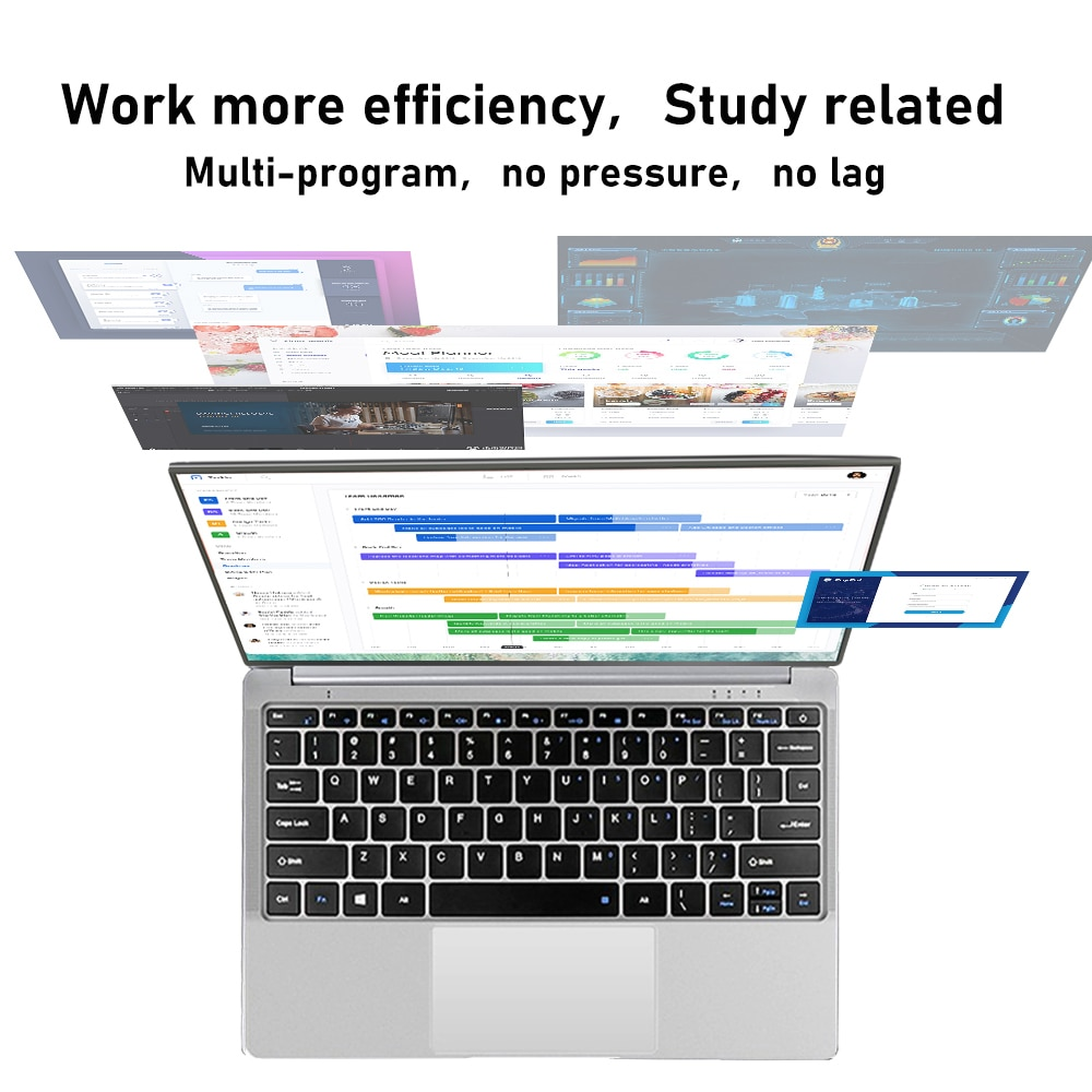 14.1 inch Laptop Intel Celeron J3355 6GB RAM 64GB SSD Computer Windows 10 for Student NoteBook 15.6 Inch i3 i5 i7 Laptop Gaming