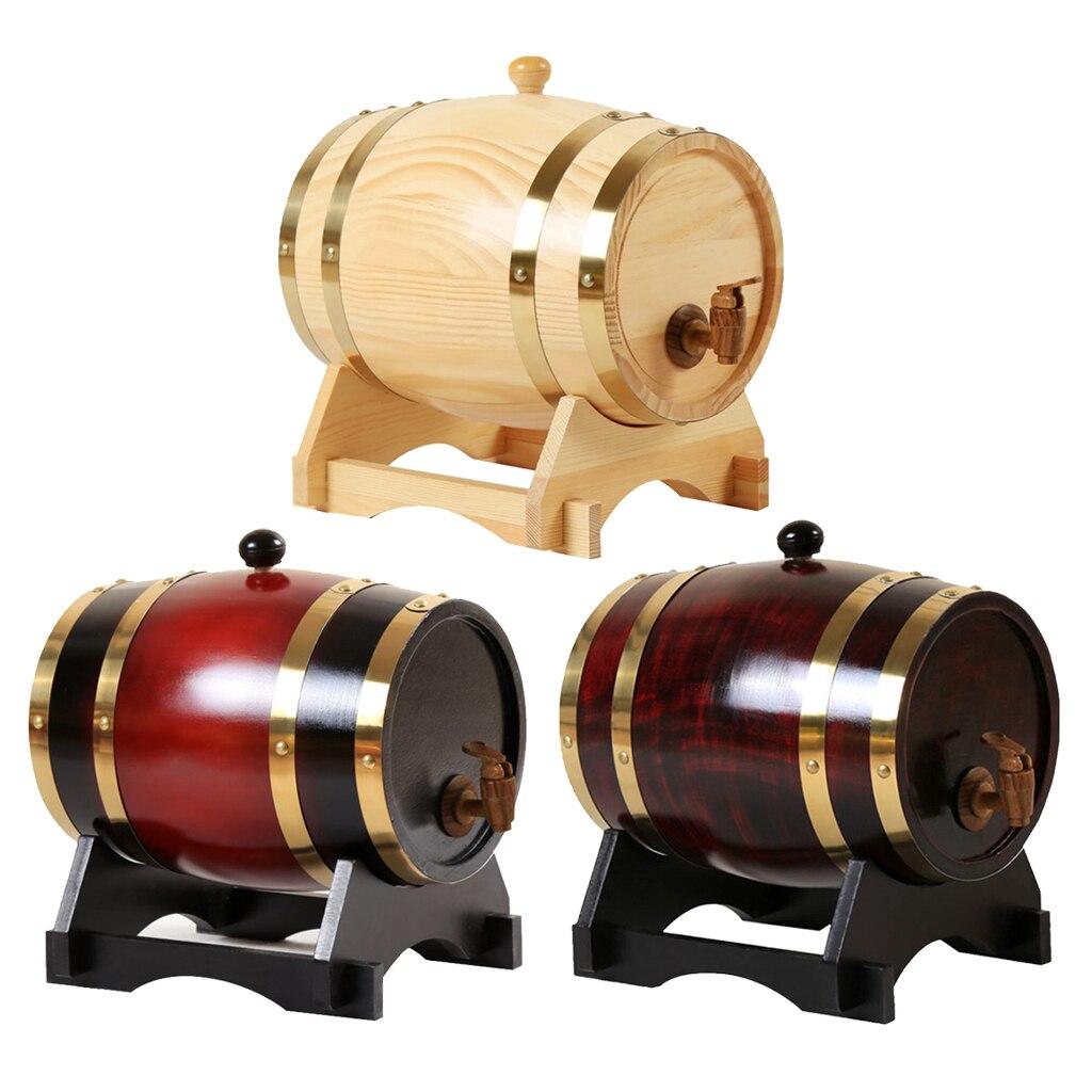 Balde de armazenamento de barril de vinho de carvalho retro para decoração de uísque de vinho de tequila