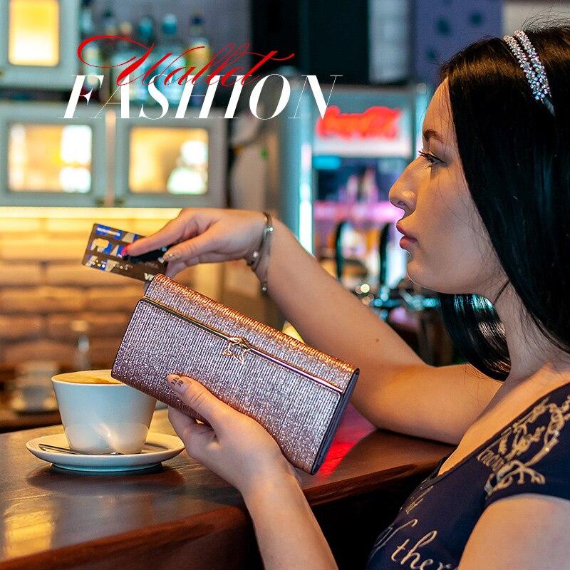 Купить с кэшбэком FOXER Women Fashion Valentine's Day Gift Wallet Female Cowhide Clutch Bag Card Holder Lady Luxury Coin Purse Chic Evening Bags