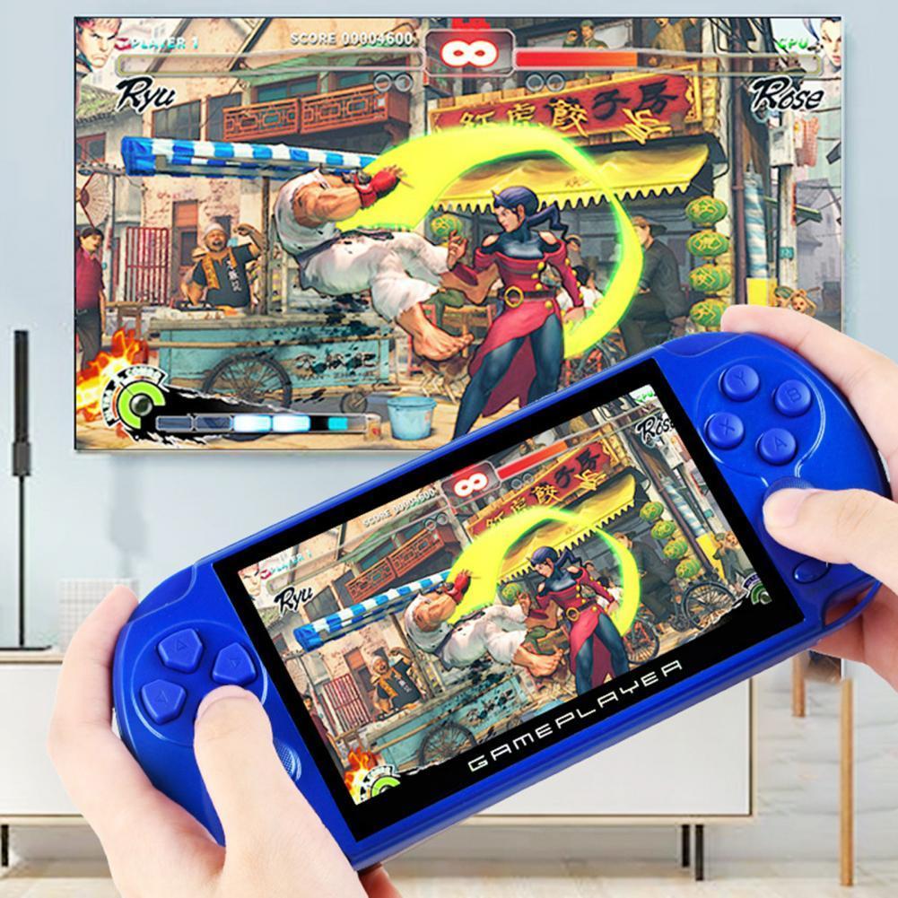 2021 X9 5,1 дюймовая портативная игровая консоль, видеоигра, классический двойной джойстик, 10000 встроенных игр, портативные игровые плееры