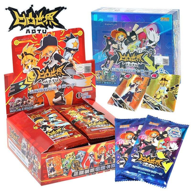 Оригинальные Карты Aotu World Tcg Flash, коллекционные карты, японские аниме карты, игральные карты, детский подарок на день рождения, игра карт