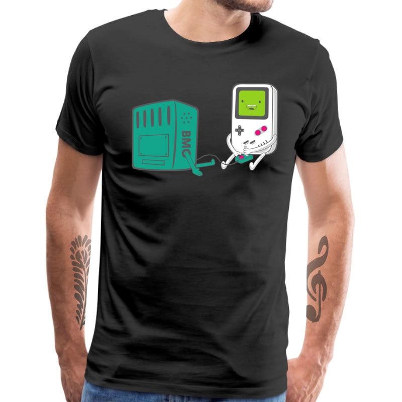 Camiseta de videojuegos Bmo Cool Guys Adventure Time, camiseta de Manga corta para hombre, camiseta de Manga Arcade de verano, cuello redondo, 100%, camisetas de algodón, regalo