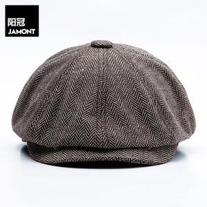 Autumn and winter new England classic octagonal hat men's art fashion all-match retro octagonal hat 14128