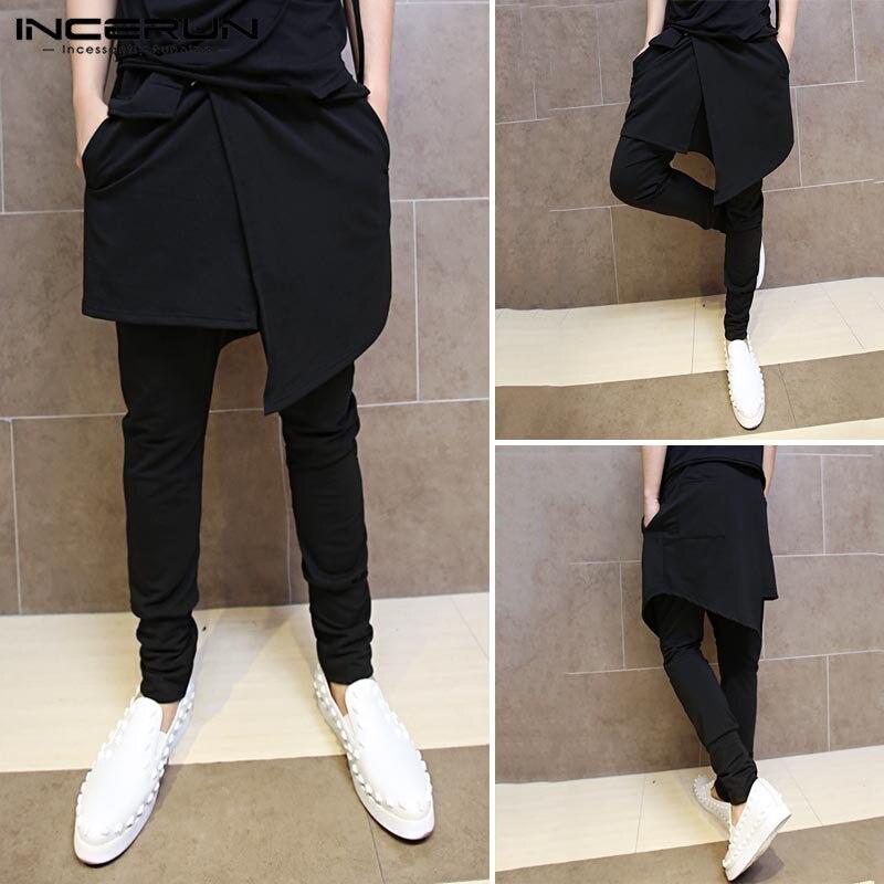 2020 dos homens grandes bolsos ankel carga calças masculino primavera streetwear macacão moletom homem preto harem pant masculino calças de linho 5xl