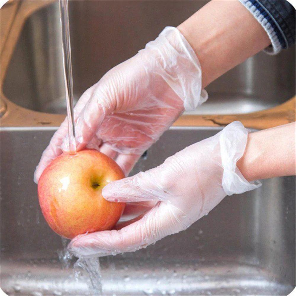 Горячая Распродажа прозрачные 10 пар кухонные аксессуары для приготовления пищи экологически чистые для очистки еды пластиковые одноразовые перчатки Новое поступление