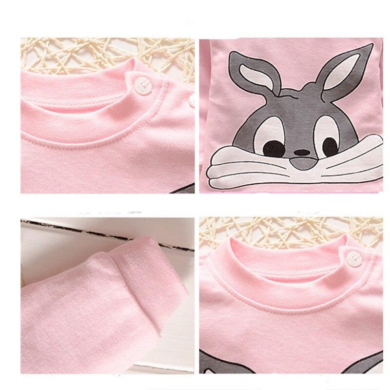 Купить с кэшбэком Newborn Baby Clothes Cotton Boys Girls Clothes Long Sleeve Top+Pant Cartoon Children Sleeperwear Kids Clothing Pajamas A0004